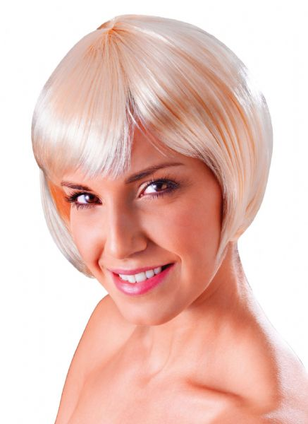 Ladies Flirty Flick Wig Sexy Adult Role Play Fancy Dress
